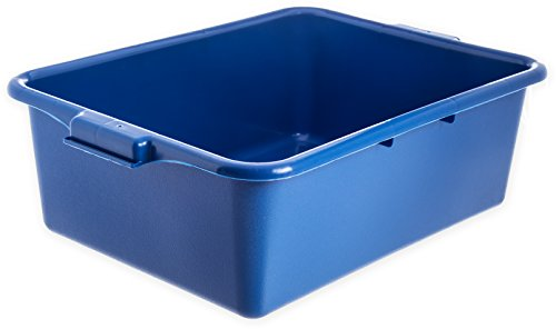 "Carlisle N4401114 Comfort Curve Ergonomic Wash Basin Tote Box, 7"" Deep, Blue (Pack of 12)"