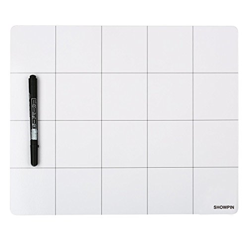 Magnetic Project Mat Showpin Large Size Small Parts Work Mat Peg Board with A Board Marker - Preventing The Small Screws from Getting Lost and Unorganized - Great for Writing Notes(9.8x11.8 inches)