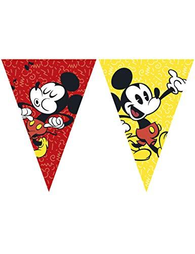 Procos Guirnalda con banderines, retro Mickey Mouse, talla, multicolor, Taglia Unica (Ciao Srl PR89210)