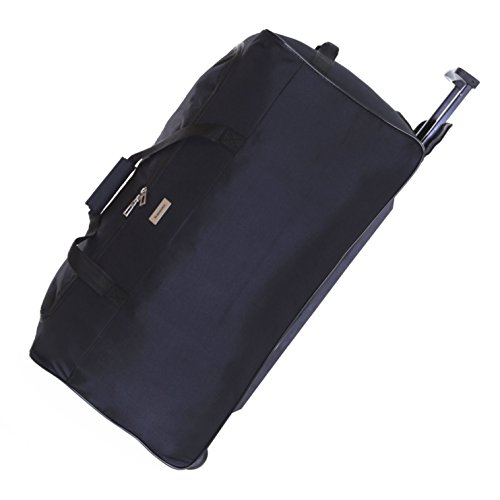 Slimbridge Large Wheeled Luggage Travel Holdall Bag 26 Inch 1.7 kg 69 litres with 2 Wheels, Braga Black