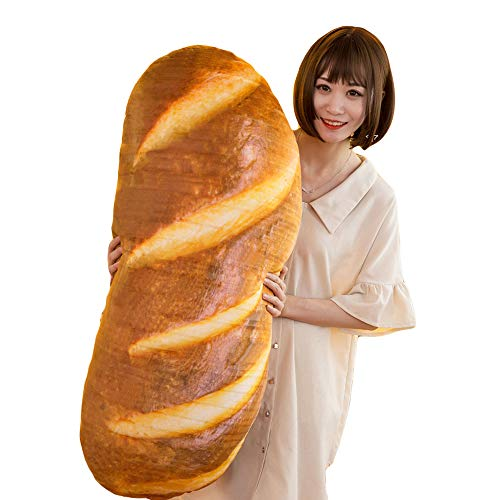 3D Simulation Bread Shape Pillow,Soft Butter Bread Food Plush Cushion Stuffed Toy for Home Decor...