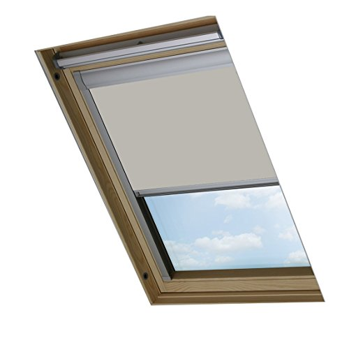 Bloc Skylight Rollo 11 (114/140) für Fakro Dachfenster Blockout, Pale Stein