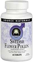 Source Naturals Swedish Flower Pollen Extract Supplement, Supports Prostate Function and Healthy Urine Flow - 45 Tablets