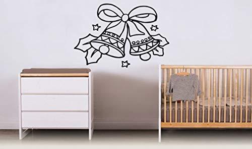 Muursticker stickers muurschildering kamer ontwerp patroon art decor kerstster strik bel blad 35