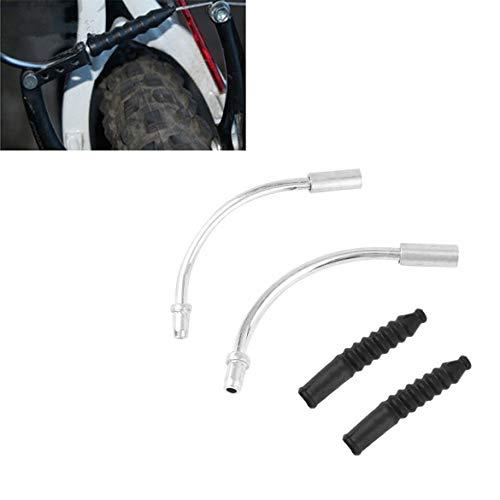 JohnJohnsen 1 par de Bicicletas V Fideos Freno Guía de Cable Codo...