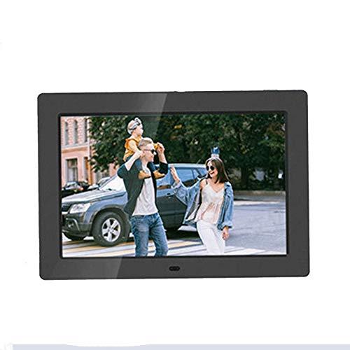 Digitaler Bilderrahmen, WLAN, 25,4 cm (10 Zoll), IPS-Touchscreen, HD-Display, 16 GB Speicher, automatische Rotation, Teilen von Fotos über App, E-Mail, Schwarz