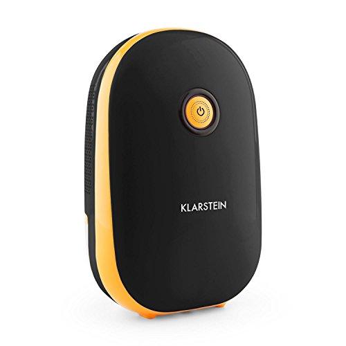 KLARSTEIN Hiddensee 1500 - Deshumidificador, Purificador, Deshumidificador eléctrico, 0,55L/24h, Compresor de bajo Consumo de 72 W, Depósito de 1,1 L, Compacto, 21x34x14 cm (LxAxP), Negro