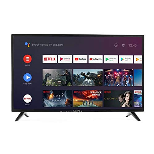 LEVEL HDA9032 Android TVTM 32 pulgadas 81 cm (HD LED 32' Smart TV, Triple Tuner, Android TV 9.0 Pie, Google Assistant, Google Play, Prime Video y Netflix) Wi-Fi [Clase energética A]