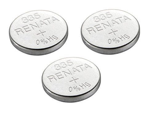 Renata 3 x 335 / SR512SW Uhrenbatterie / Knopfzelle, hergestellt in der Schweiz, Silberoxid, 1,5 V, auch Sb-Ab, 280-68, V335, 622