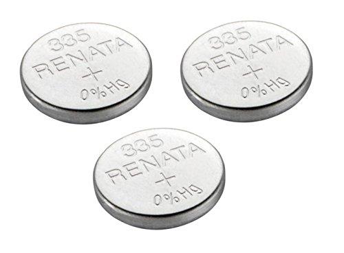 3 Batterie Renata 335 da orologio Swiss Made all'ossido di argento...