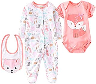 Medylove Reborn Girl Doll Clothes Red Fox Suit for 20- 23 inch Reborn Baby Doll Matching Outfit Accessories 3pcs