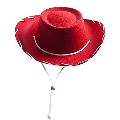 Century Novelty Children's Red Felt Cowboy Hat by