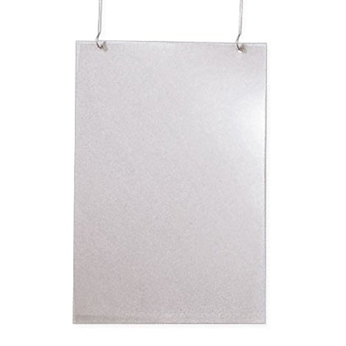 Plakathüllen PVC, mit Falz ( Deckenhänger ) 0,4 mm, DIN A2