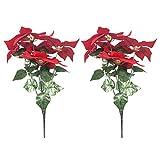 stobok 2pcs stelle di natale fiore stelle di natale artificiali stelle di natale piante finte decorazioni natalizie fiore per ornamenti albero di natale decorazione domestica coperta