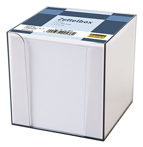 Idena 311069 - Zettelbox, 9 x 9 x 10 cm, 80g/m², 700 Blatt, 1 Stück