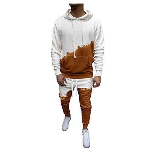 YOCheerful Men's Jumpsuit Playsuit Sportswear One Zip Onesie Hoodie Solid Sports Jumpsuit Playsuit Romper