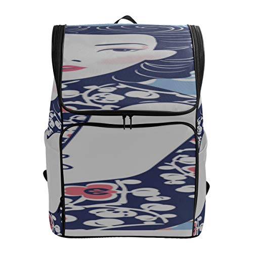 Blue And White Chinese Lady Bookbags For Kids Bag College Best Daypack Cool Bookbags For Men Fits 15.6 Inch Laptop And Notebook Casual Weekend Bag Bag For College Students