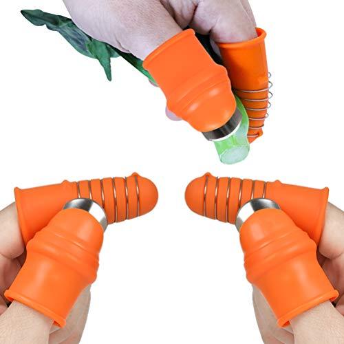 """""""N/A"""" 4PCS Garten Silikon Daumen Messer Finger Messer Schneider Teiler Obst Pflanzen Messer für Trimmen Kommissionierung Gemüse Gartengeräte mit Fingerschutz für Garten Küche"""