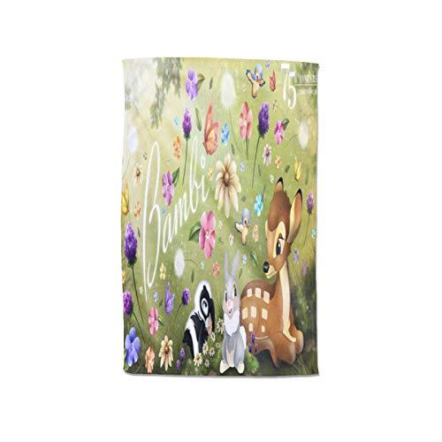 Large Puzzle Bambi Handtuchwickel für Damen, Bambus-Baumwoll-Frottee mit Verschluss und Tasche, Bademantel und Duschtuchkleid