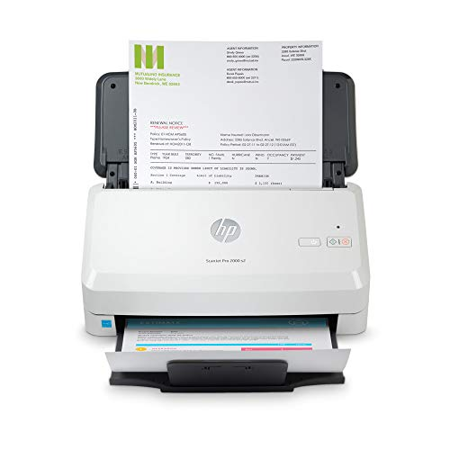 HP Scanjet Pro 2000 s2 Sheet-Feed Scanner (6FW06A), Light Grey, Small