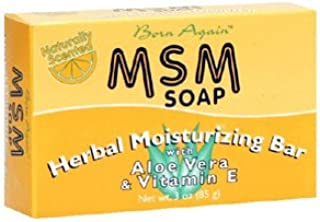 At Last Naturals Msm Herbal Moisturizing Bar With Aloe Vera And Viamin E - 3 Oz (Pack of 4)