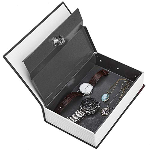 Fariox Safety Box Book Safe Type Security Dictionary Simulation Carrying Case Home Cash Jewelry Locker Secret Safe Storage Box (180 x 115 x 55 mm)