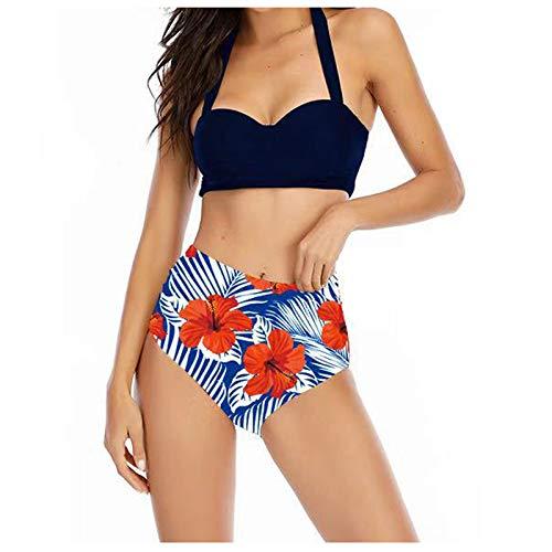 Conjunto de bikini sexy de dos piezas de cintura alta para mujer