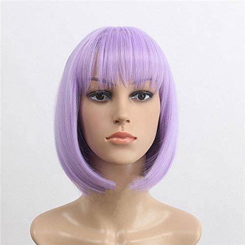 Pelucas cortas Bob púrpura mujeres alta calidad rectas