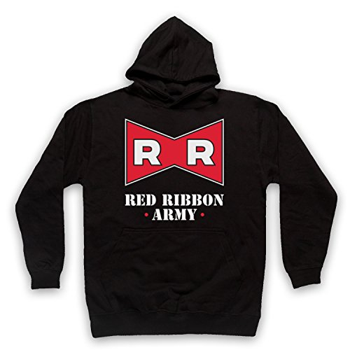 The Guns Of Brixton Dragon Ball Z Red Ribbon Army Sweat a Capuche des Adultes, Noir, Large