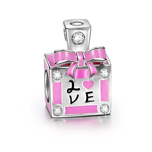 NINAQUEEN Charm Pandora Adattarsi Amore Perfume Idee Regalo Donna Argento 925 Smalto Perline per la Madre Fidanzata Moglie