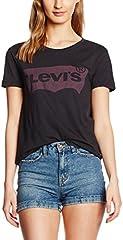 Levi's The Perfect tee - Camiseta Manga Corta para Mujer Negro Batwing