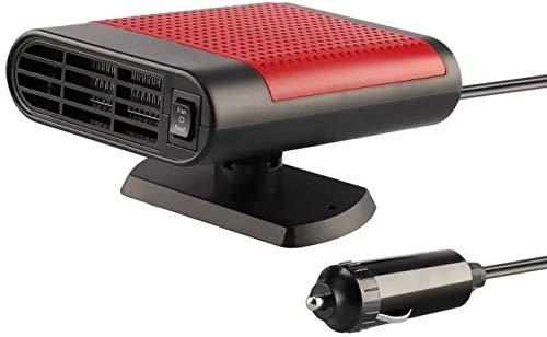 Wonninek Auto-Heizlüfter, 12 V, Auto-Heizlüfter, Entfroster für die Schneeräumung, Winter, elektronische Windschutzscheiben-Heizung, Lüfter, Defroster, Demister (rot)