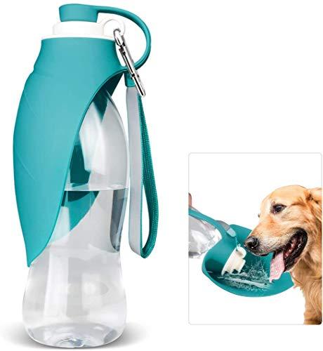 N/C Hund wasserflasche unterwegs,Tragbar Hund Trinkflasche,Silikon Hundewasser Flaschen,Hund Wasserflasche Reise,Reise Tragbar Hund Trinkflasche Unterwegs mit Spüle in Silikon für Outdoor (Blau)