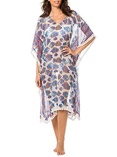 Roberta Roller Rabbit Women's Dipson Asia Kaftan X-Small/Small Royal Blue