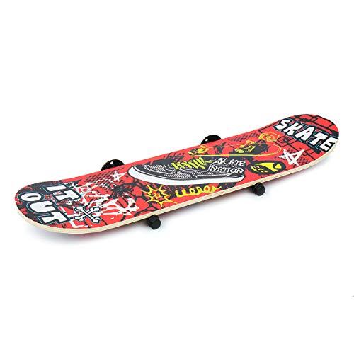 MJJEsports 60 * 15 cm/80 * 20 cm Skateboard stijl muur gemonteerd Hanger Storage Rack Organizer Wandrek, 1, 1