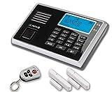 Olympia 5903 Protect 9030 Drahtlose GSM Alarmanlage mit Notruf und Freisprechfunktion, App Steuerung mit ProCom App, schwarz