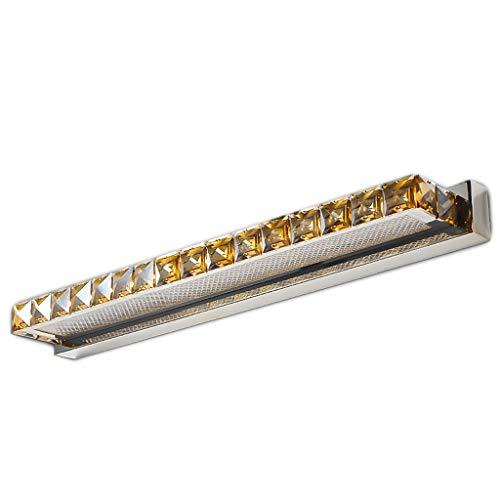 JIY Espejo cristalino de lujo Faros Europea Led Vestir luz del espejo de baño Tocador de la lámpara de la lámpara de baño Cuarto de baño pared luz del espejo (Color : B-Warm white light)