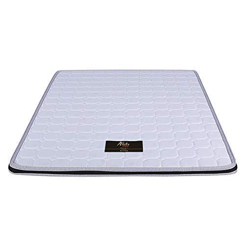 XM&LZ Weich Licht Schlafen Pad Coir Falten Tatami-matratze Eco-freundlich Kokosnuss Bettauflagen Für Kind übergeordneten Mit Abnehmbaren Matratzenbezug-weiß 150x200cm(59x79inch)