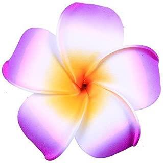 Hawaiian Hair Flowers/Florida Beach Plumeria Wedding Flowers Foam Hawaii Frangipani Flower Hairclip (Purple)