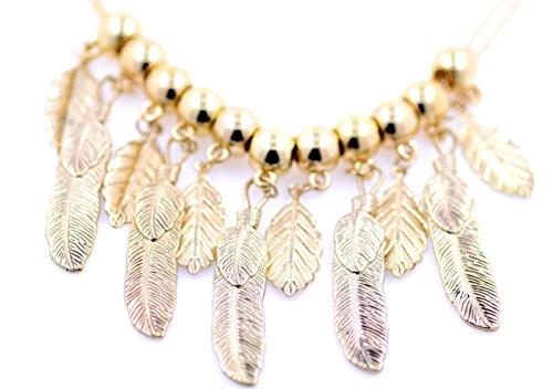 lizzyoftheflowers. Lámpara de araña de color dorado estilo vintage hoja collar
