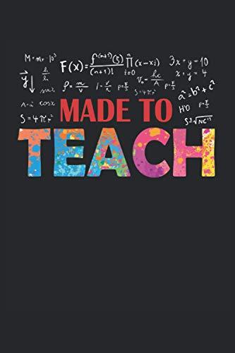 Notebook: insegnante, insegnante, scuola, insegnante di matematica, educatore,: 120 pagine foderate - notebook, bookbook, diario, per fare lista, libro di registrazione, piano, organizza e nota.