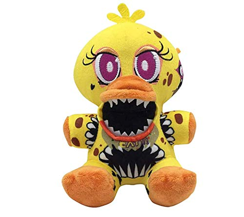 FNAF Plushies - All Characters(7') - -- Five Nights Freddy's Plush: Chica, Springtrap, Bonnie, Marionette, Foxy Plush - Freddy Plush-FNAF Plush-Kid's Toy-Stuffed Animal (Twisted Ones Chica)