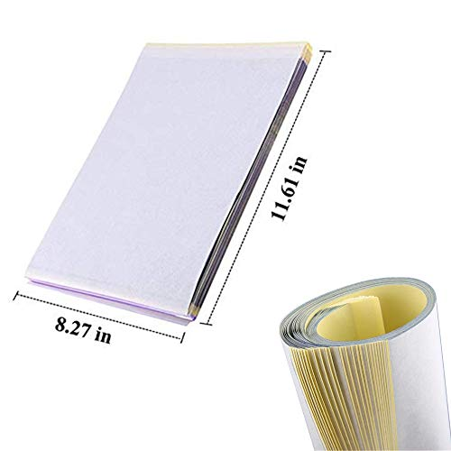 Tattoo Transfer Paper - Yuelong 25 Sheets Tattoo Stencil Paper Thermal Stencil Paper 4 Layers 8 1/2