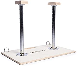 BaseBlocks Trainer. Adjustable Handstand Canes for Yoga, Calisthenics, Gymnastics and Bodyweight Workouts. Lightweight, Assembled in Seconds and Easy to Transport.