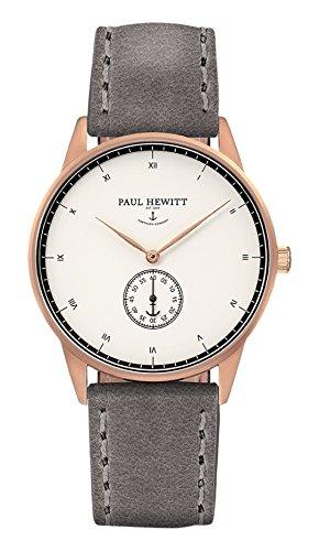 Paul Hewitt Reloj analogico para Unisex de Cuarzo con Correa en Piel PH-M1-R-W-13S