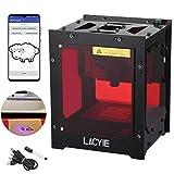 Graveur Laser, Lacyie 3000mW 450nm Mini Graveur 38x38 Espace de travail 490x490 Pixel DIY Graveur pour Bois, Super Facile à Utiliser pour une Utilisation à Domicile, Fonctionnement Hors Ligne