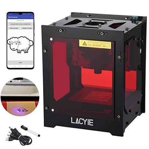 Máquina de Grabado Láser,Lacyie 3000MW Mini Grabado laser Inteligente AI,490x490 Pixel USB Mini máquina de Grabado CNC Router Corte Operación Fuera de línea Impresora grabada para