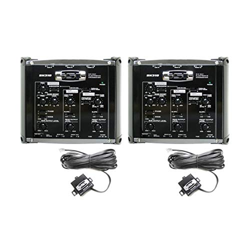 Soundstorm SX310 2/3 Way Electronic Crossover Car Bass Audio w/Remote (2 Pack)