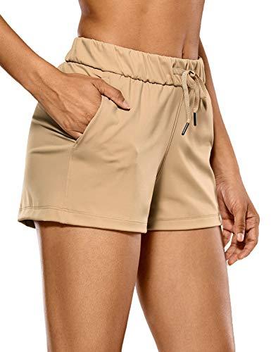 CRZ YOGA Donna Pantaloncini Relaxed Fit Sportivi Shorts da Corsa con Tasche-6cm Frontiera 38