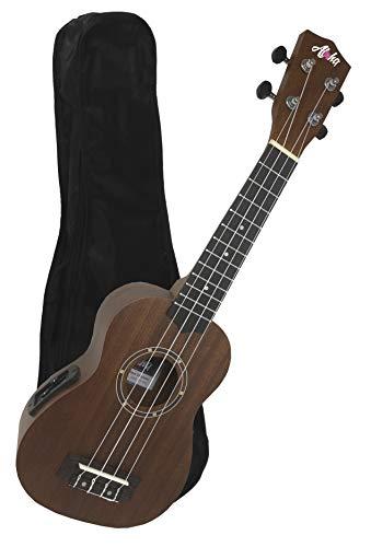 Aloha+ UK500S EQ Ukelele Soprano Electrificado con funda